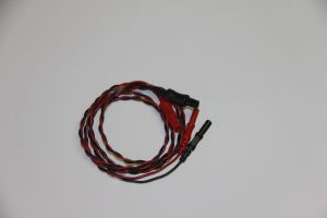 2 lead ECG twisted lead extension cable 36""